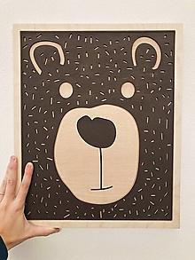 Dekorácie - drevený obraz Maco - 13107489_