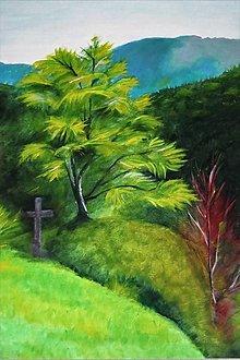 Obrazy - Stom a kríž - 13104160_