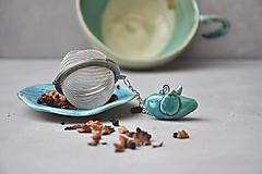 - sitko na čaj vtáčik tyrkysový  - 13104092_
