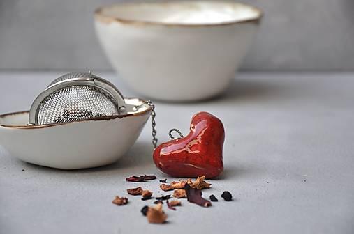 sitko na čaj srdce