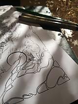 Kresby - Antistresová Relaxačná Omaľovánka Pre Dospelých - Digitálny Súbor / Pdf / Jarná Víla / Zvončeky / Zajace - 13107946_