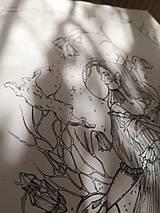 Kresby - Antistresová Relaxačná Omaľovánka Pre Dospelých - Digitálny Súbor / Pdf / Jarná Víla / Zvončeky / Zajace - 13107951_