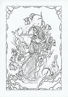 Kresby - Antistresová Relaxačná Omaľovánka Pre Dospelých - Digitálny Súbor / Pdf / Jarná Víla / Zvončeky / Zajace - 13107851_