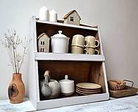Nábytok - Drevená polička do kuchyne - 13105712_