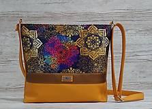 Kabelky - Crossbody kabelka 25 Mandala Orange - 13107480_