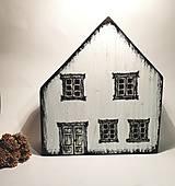 Dekorácie - Čierno-biely domček - 13107605_