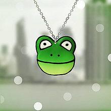Náhrdelníky - Cartoon prívesok - žaba - 13107527_