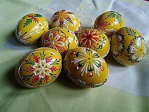 Dekorácie - Voskované kraslice žlté. - 13109358_
