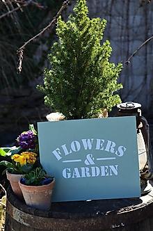 Tabuľky - Tabuľky so záhradným motívom - 13109124_