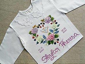 Detské oblečenie - Set do krstu- Hortenzie - 13112630_