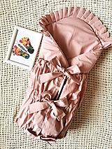 Textil - Ružová perinka s vyšívaným volánikom - 13110593_