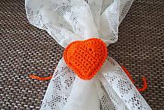 Úžitkový textil - srdiečka na závesy - 13109421_