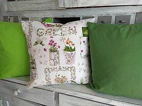 Úžitkový textil - Vankúše Green 3 ks - 13112114_