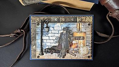 Papiernictvo - Gentleman vintage pohľadnica - 13111260_