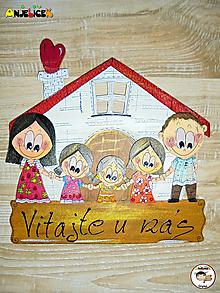 Tabuľky - Menovka - rodinka a domček - 13111652_