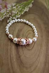 Náramky - perly náramok kráľovský - 13109420_