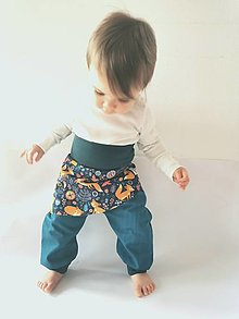 Detské súpravy - Sukničkové softshellové nohavice jarné - 13110966_