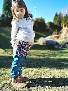 Detské súpravy - Sukničkové softshellové nohavice jarné - 13111248_