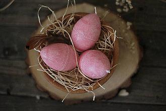 Svietidlá a sviečky - Veľkonočné vajíčko - sviečka (ružové) - 13108965_