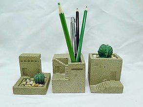 Dekorácie - Dekorácie s betónovými kaktusmi Mesto - 13110786_