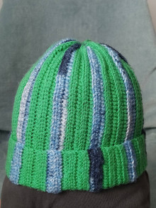 Detské čiapky - Háčkovaná čiapočka pre chlapčeka - 13109209_