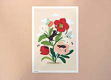 Grafika - Koťata - umělecký tisk - 13114038_