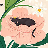 Grafika - Koťata - umělecký tisk - 13114039_