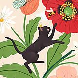 Grafika - Koťata - umělecký tisk - 13114040_