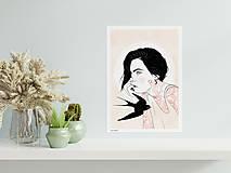 Grafika - Měsíc - umělecký tisk - 13114082_