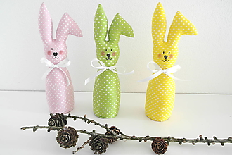 Dekorácie - Veľkonočné zajačiky - 13113021_