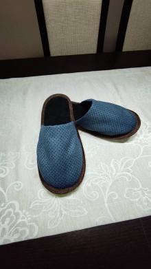 Obuv - Papuče modré - 13116127_
