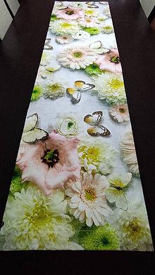 Úžitkový textil - obrus-romance -digitálný tisk 3D - 13116212_