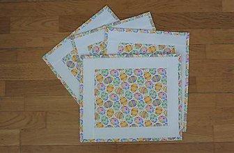 Úžitkový textil - Prestieranie VEĽKONOČNÉ VAJÍČKA  (farebná obruba) - 13114844_