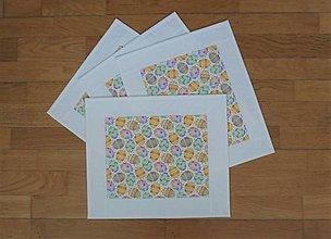 Úžitkový textil - Prestieranie VEĽKONOČNÉ VAJÍČKA  (biela obruba) - 13114896_