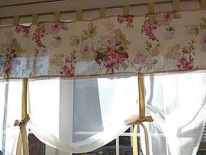 Úžitkový textil - Záclona  veľký kvet - 13113838_