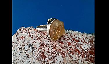 Prstene - Prsteň s citrínom - 13114150_