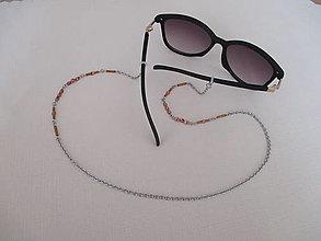 Iné doplnky - Retiazka na okuliare - medené odtiene - chirurgická oceľ - 13114545_