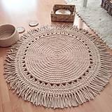 Úžitkový textil - BOHO style háčkovaný koberec - 13113789_