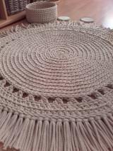 Úžitkový textil - BOHO style háčkovaný koberec - 13113798_