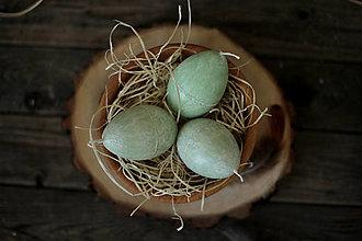 Svietidlá a sviečky - Veľkonočné vajíčko - sviečka (zelené) - 13117009_