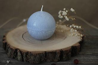 Svietidlá a sviečky - Sviečka zo 100% palmového vosku GUĽA (Modrá) - 13117016_