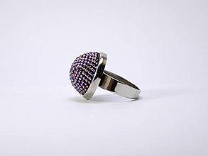 Prstene - Háčkovaný korálkový prsteň Orchidea - 13114986_