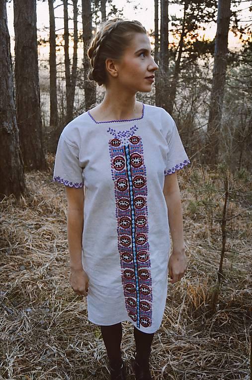 Šaty - Ručne vyšívané šaty - 13116093_
