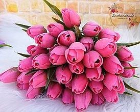 Dekorácie - Tulipán magenta 38cm - 13116538_
