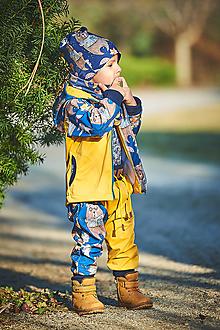 Detské oblečenie - softschell nohavice zvieratká - 13113045_