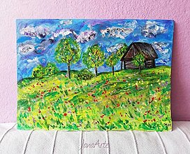 Obrazy - Domček na samote obraz - 13114092_