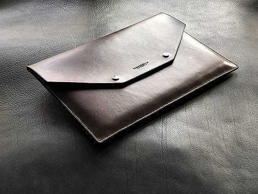 Na notebook - Kožené púzdro na MacBook / obal na A4 dokumenty - 13113256_