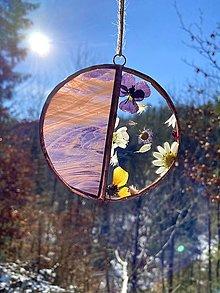 Dekorácie - Závesná dekorácia s lúčnymi kvetmi - 13116500_