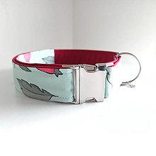 Pre zvieratká - Obojek - Zelený s šípkem - kovová spona - 13113341_