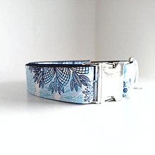 Pre zvieratká - Obojek - Modrá mandala - kovová spona - 13114042_